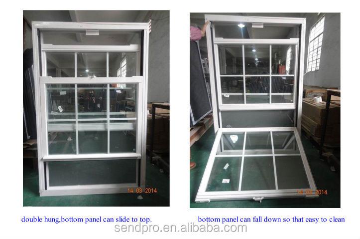 Aluminum vertical sliding window home design villa design for Vertical sliding window design