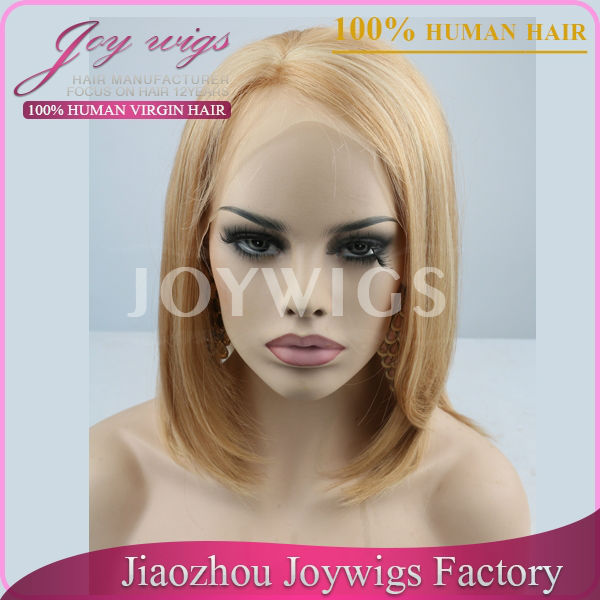 Factory Price Wholesale Blonde Human Hair Short Bob Lace Front Wig,Lace Front Wig Indian Remy