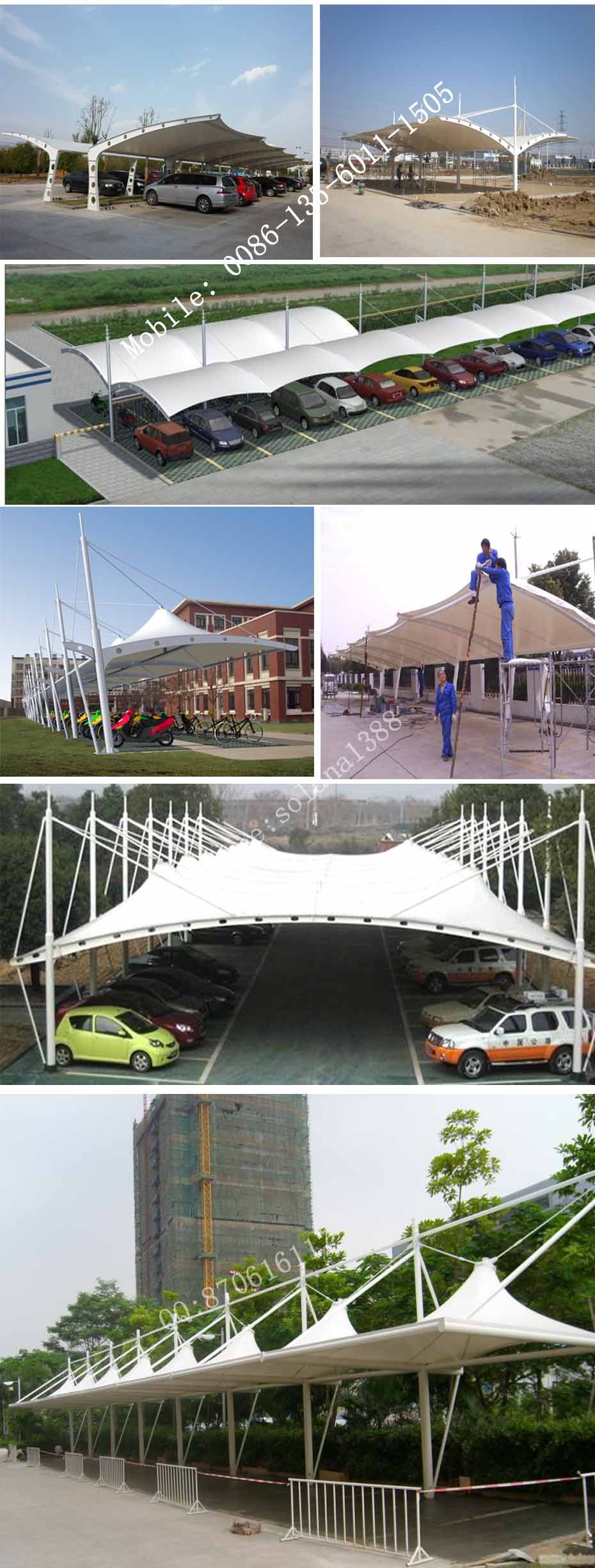 Water-Proof and Sun-Proof Steel Structure Tensiile Steel structure tent