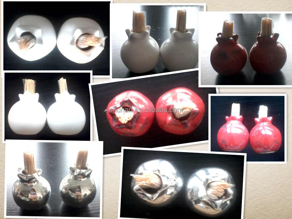 Home Fragrance Diffuser/ wood diffuser, pomegranate-shaped ceramic bottle