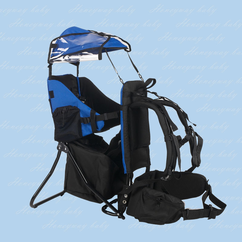 Baby Back Pack with Cross Country Carrier Stand Child Kid Sun Shade Visor Shield
