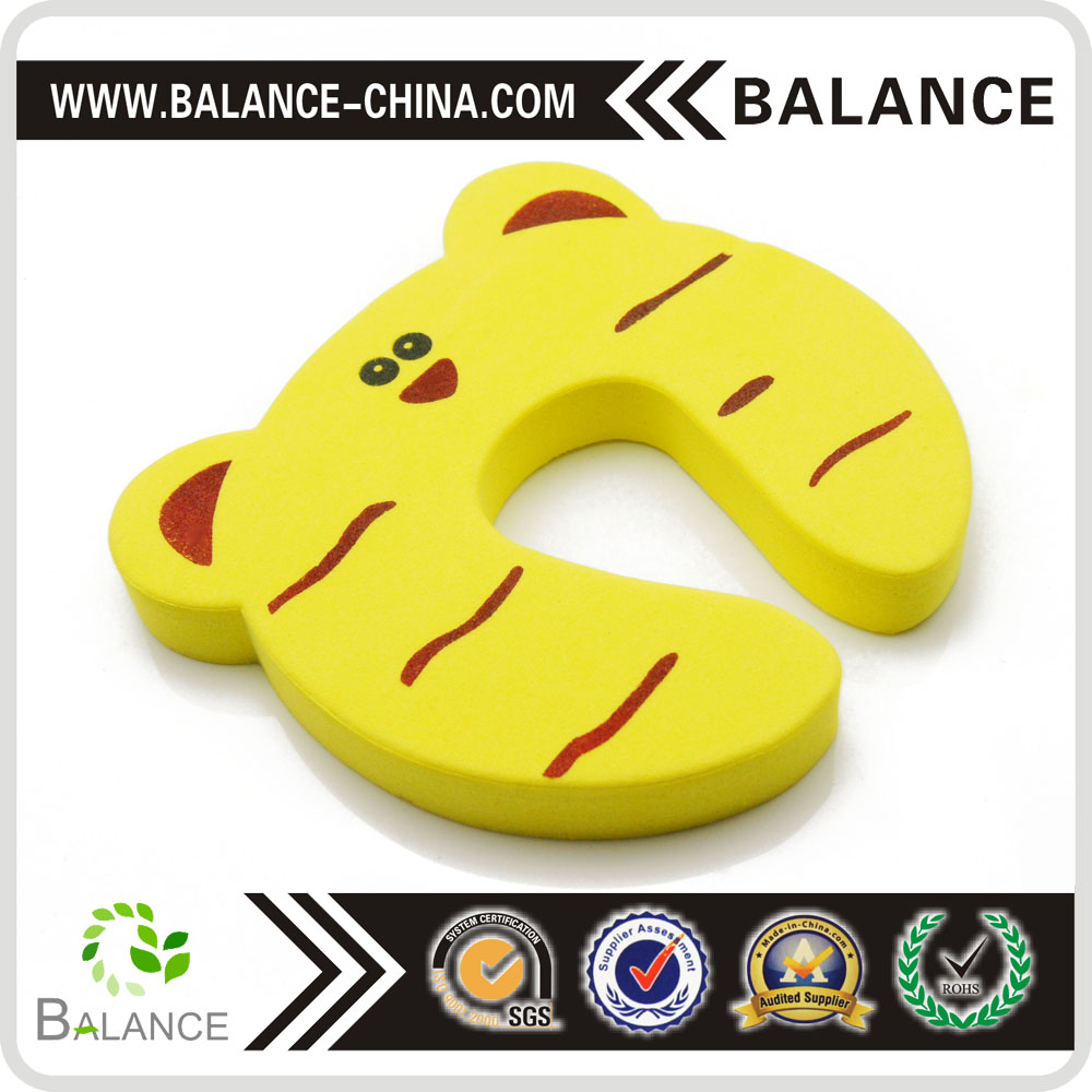 Baby safety finger guard animal door stopper