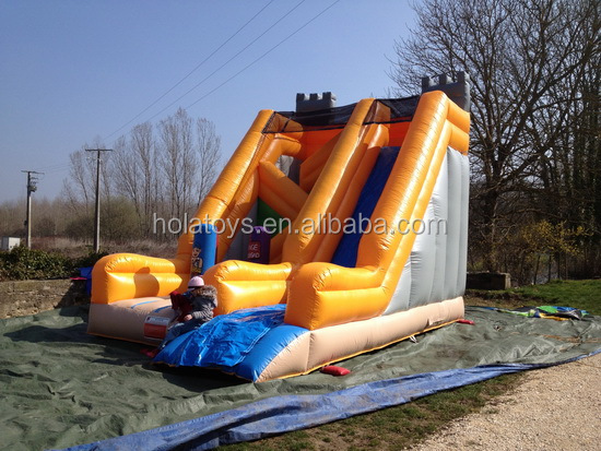 Kids inflatable bouncer with slide/used commercial bounce houses for sale