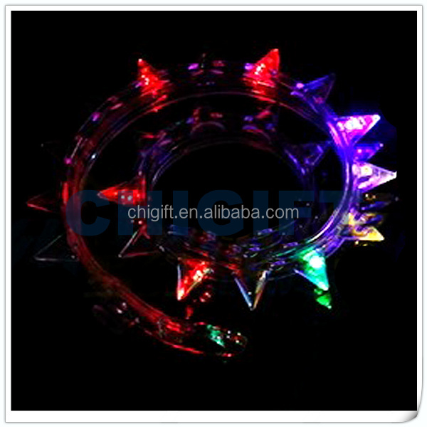Colorful Plastic Spike LED Necklace