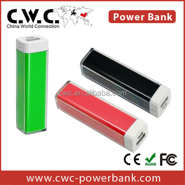 External power bank for Lenovo Custom solution LOGO Power Bank 2200/2600MAH bulk lipstick Shape Power Bank