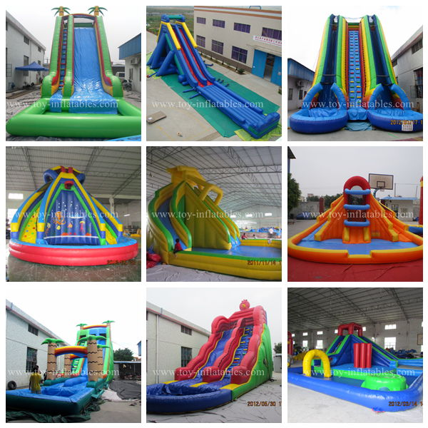 Super quality professional huge inflatable water slide
