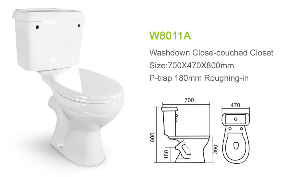 Outhouse Two Piece Type of Water Closet