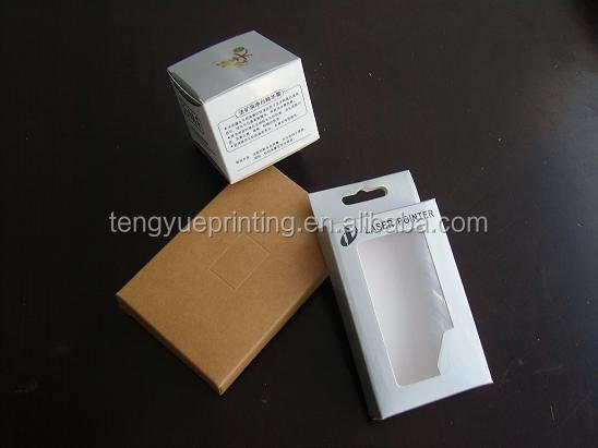 UV coating Packaging boxes with PVC /PET /PP plastic window