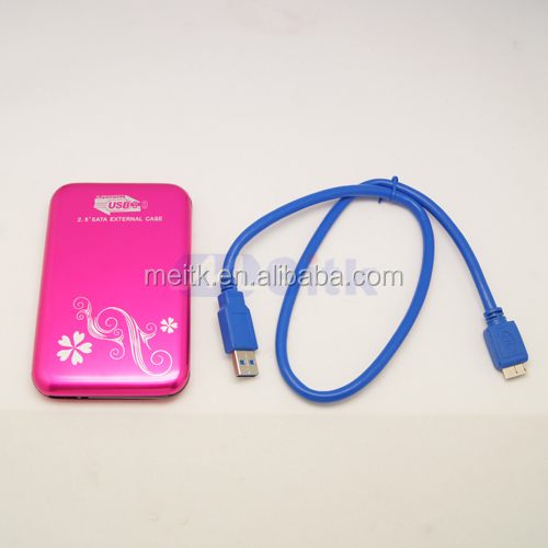 "Mini USB3.0 2.5"" sata external hard drive enclosure case"