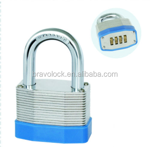Resettable Laminated Combinaton Padlock Lock