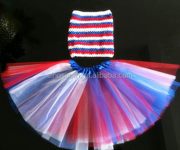 2014 Wholesale clothing baby girls tutu skirt sets for the Fourth of July