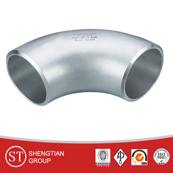 ASME B16.5 4 inch stainless steel carbon steel 90 degree pipe fitting elbow