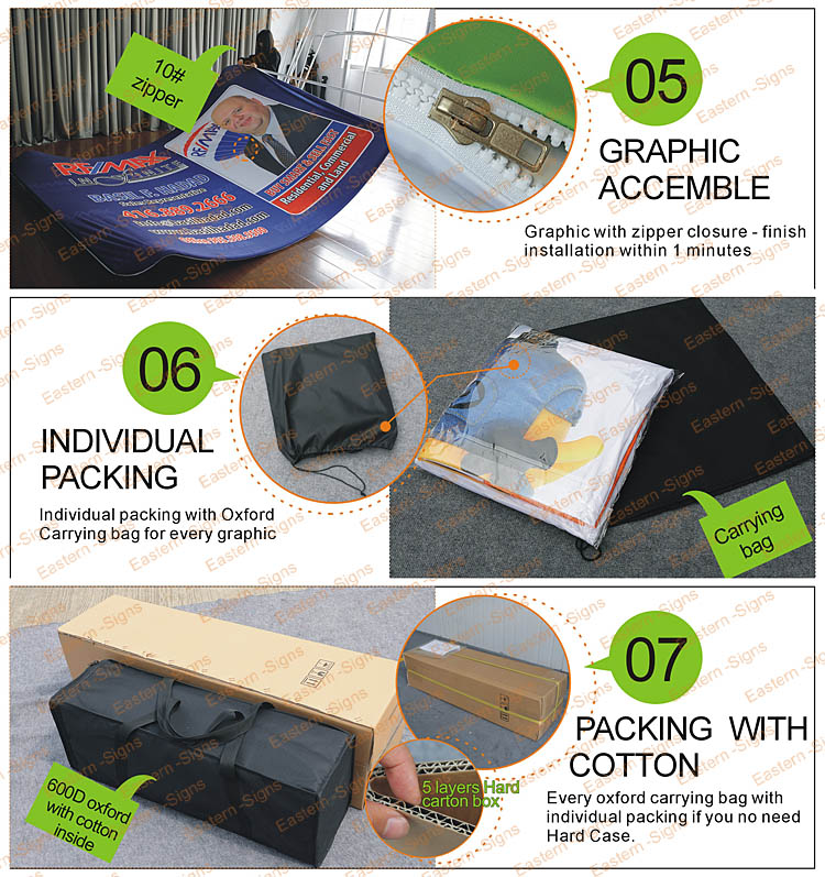 10ft Concave shape Fabric Backwall Kit