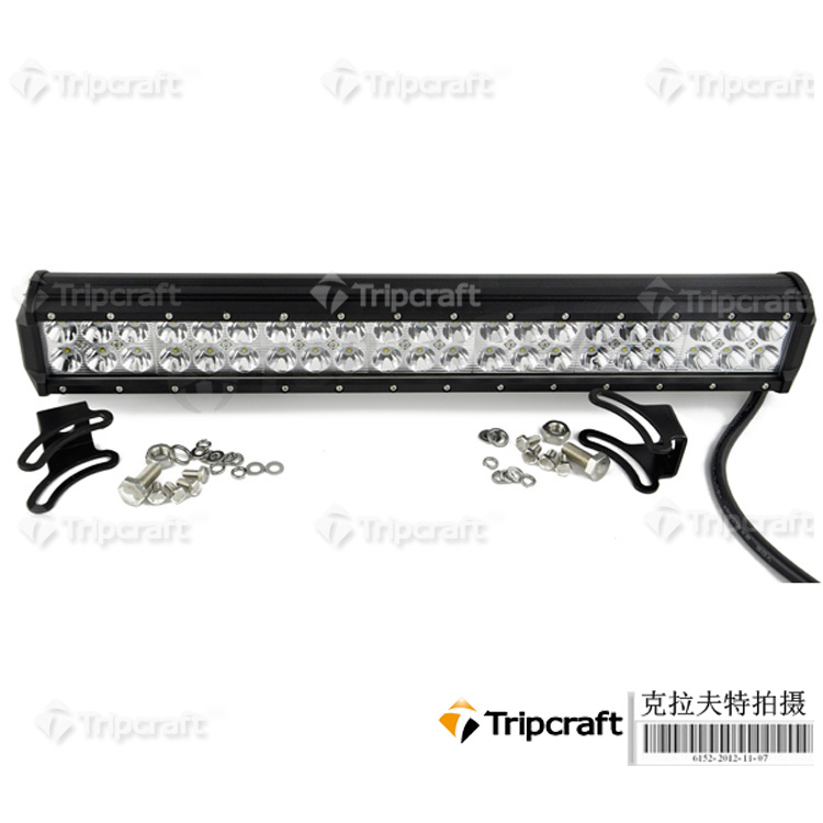 126W LED Light Bar Jeep Truck Trailer 4x4 4WD SUV ATV Off-Road Car 12v Work Working Lamp Pencil Spread Beam
