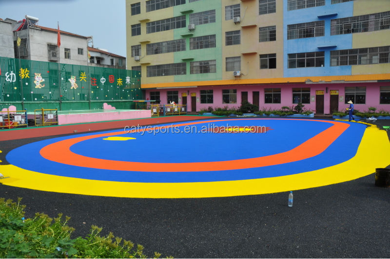 Colorful Virgin EPDM rubber granules / rubber surfaces/15years experience factory