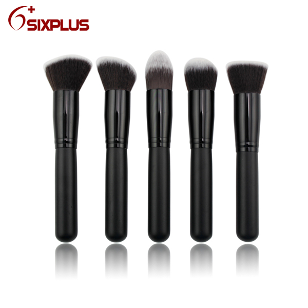 10 pcs professional black brush set / Six Plus cosmetic makeup brush / high quality synthetic make up brushes