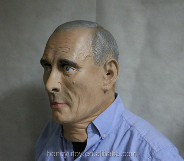 Realistic Famous Human Mask Popular Great Man Vladimir Putin Mask for Adult Halloween Party Dress Up