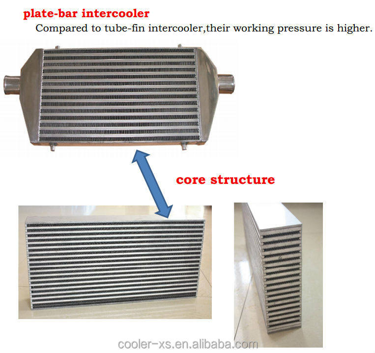 600*300*90 core bar and plate front mount universal Intercooler
