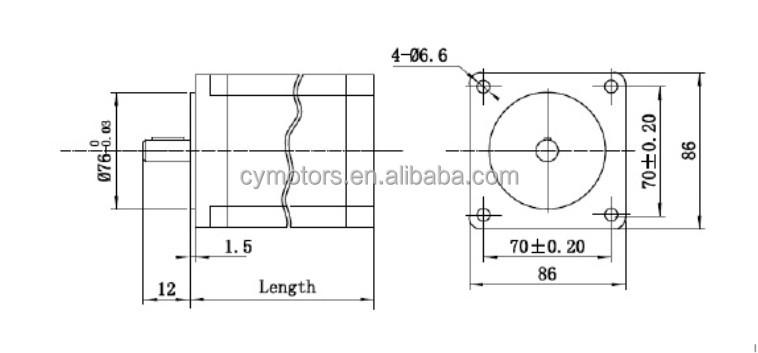 Nema 34 micro stepper motor bipolar dc electric motor for for Nema 34 stepper motor datasheet