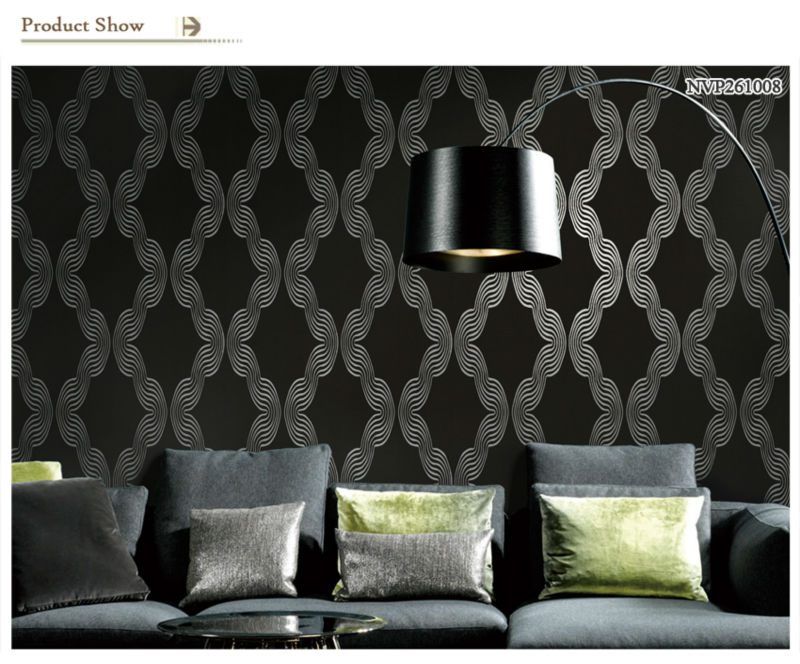Modern Geometrical Design Non-woven Glitter Effect Wallpaper