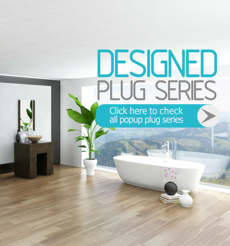 Fluorescent sink pop-up Europe standard basin pop-up plug with good logo design