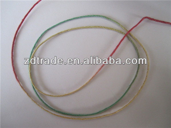 New tech 1mm mix colored Hemp Cord string for bracelet