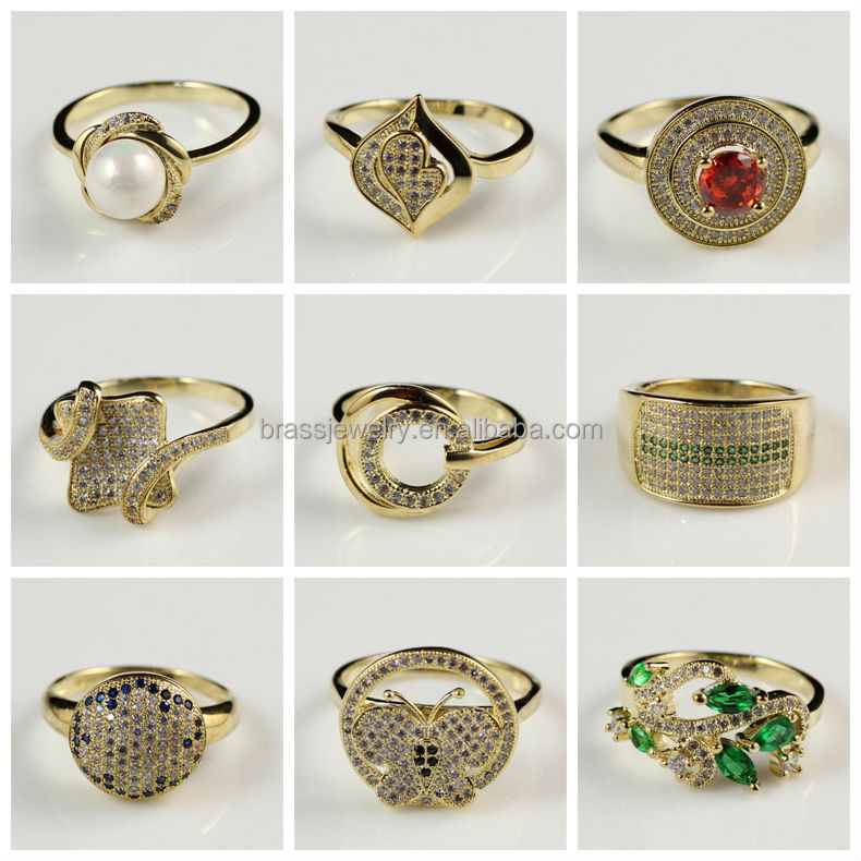 Charming Fashion New Design Gold Plated Big Semi Precious Stones