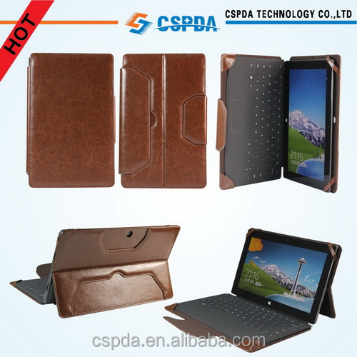 For Microsoft Surface Pro 3 / Surface Pro PU Leather Folio Keyboard Stand Case | Executive & Premium Leatherette Texture