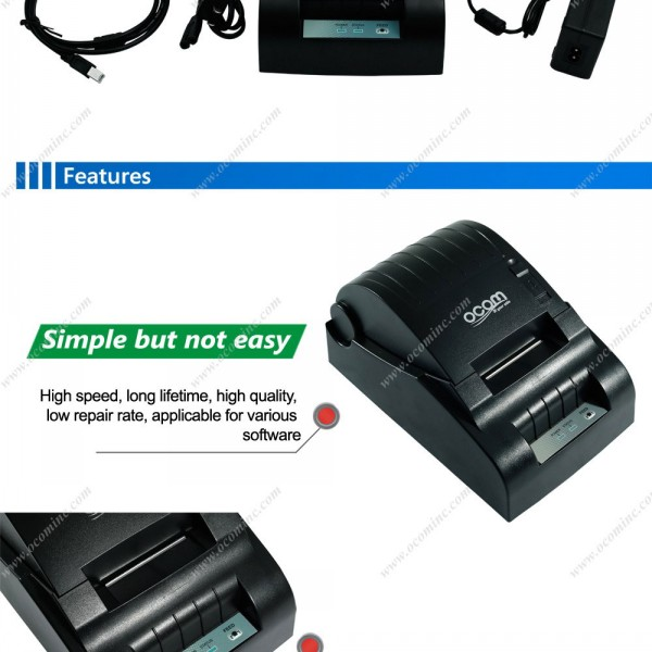 58mm Windows, Linux, Android Supported POS58 Thermal Receipt Printer