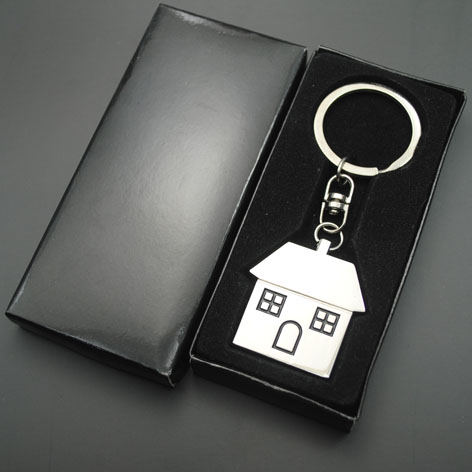 cheap round blank metal keychain with metal key ring