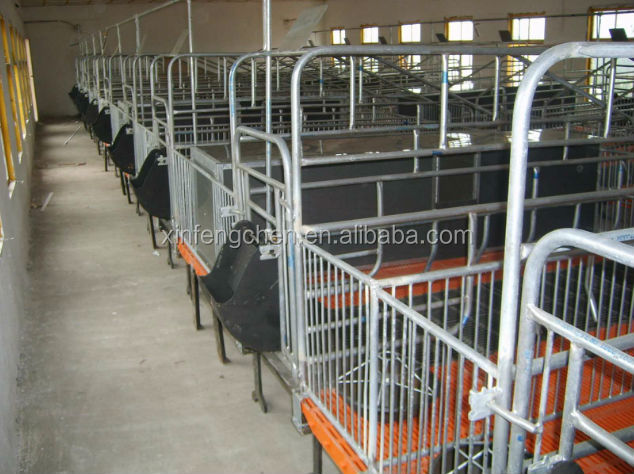Farrowing crate pig farrowing bed