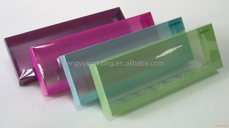 plastic boxes small clear/paper box with clear plastic cover