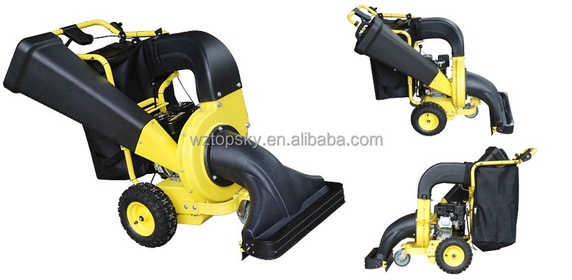 Self-propelled 3-IN-1 Gasoline Powered Garden Vacuum & Chipper Shredder