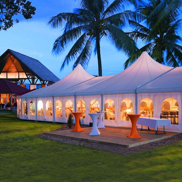 Giant yurt wedding