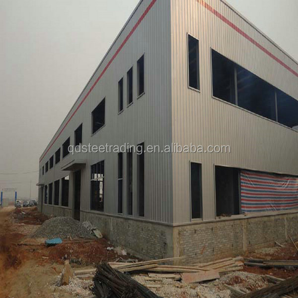 light prefab woekshop steel structure drawing design