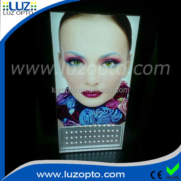 single sided large size backlit tension fabric display light box, led backlit display