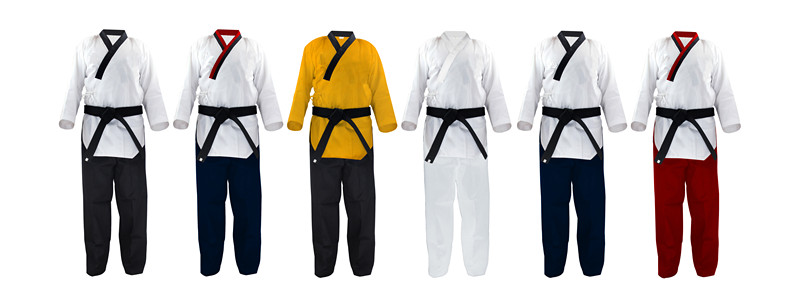 Custom made martial arts uniform V-neck taekwondo poomsae uniforms