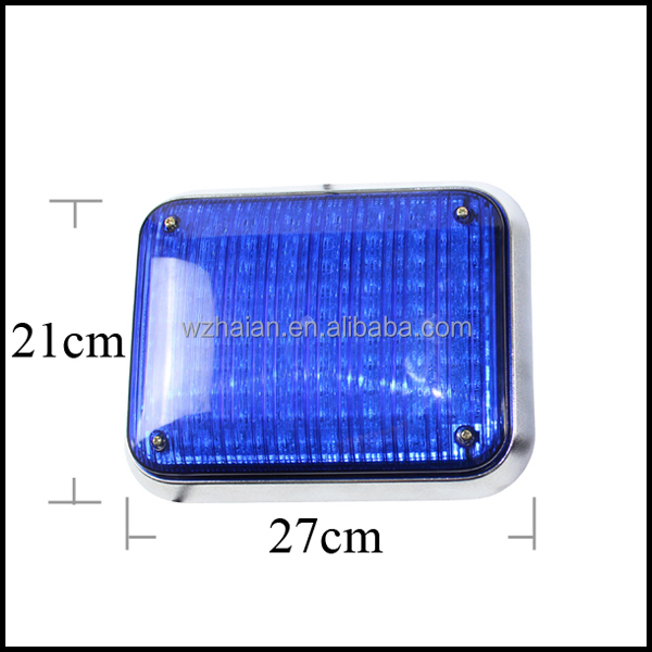 Amber square led ambulance warning flashing lights Ambulance Surface Mounted LED Strobe Beacon Light