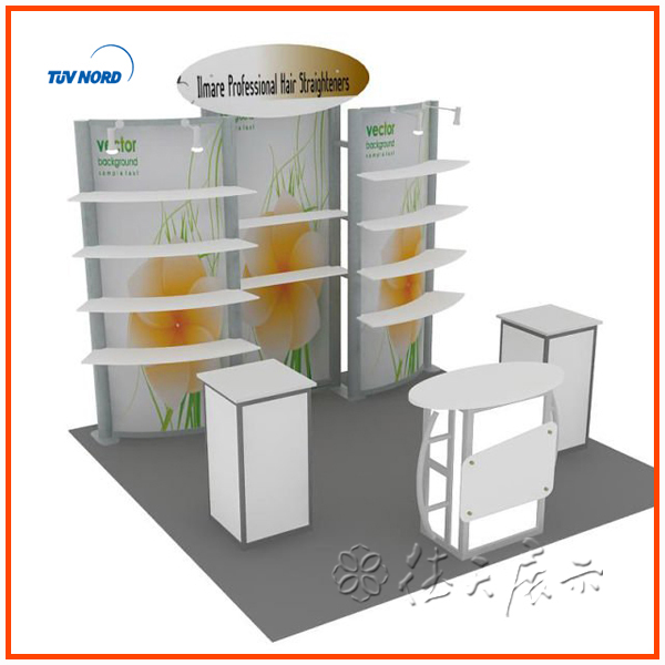 3x3 Exhibition Stand Aluminum Booth Exhibition Design And Construction Exhibit Display Trade ...