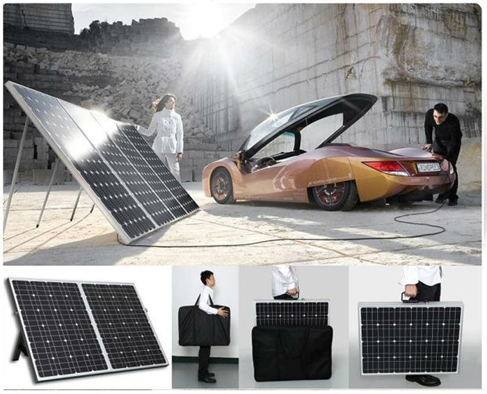 Enerdrive 100w Portable Folding Solar Panel Kit