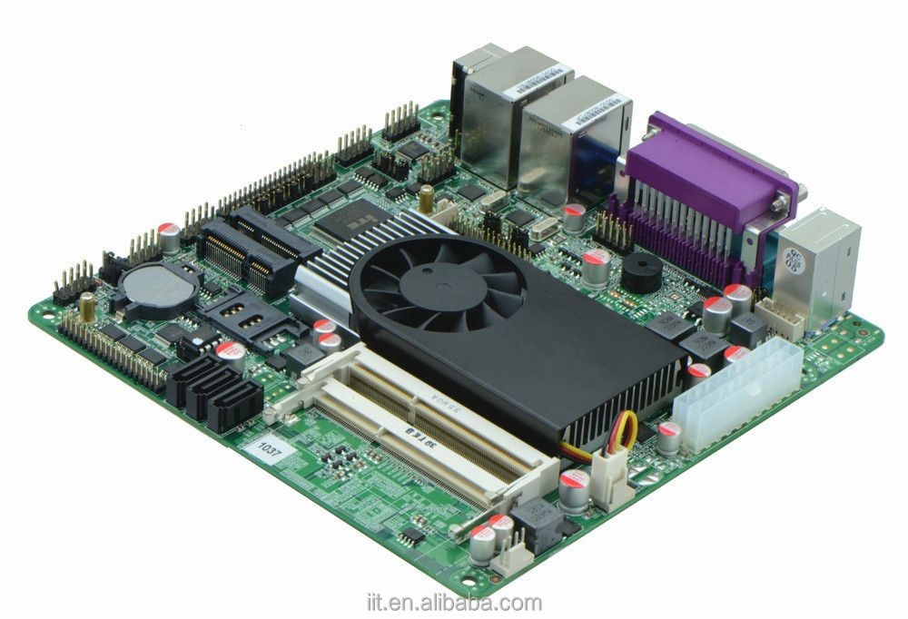 intel celeron 1037u mini itx motherboard with 5 COM headers for ATM, POS, NAS applications