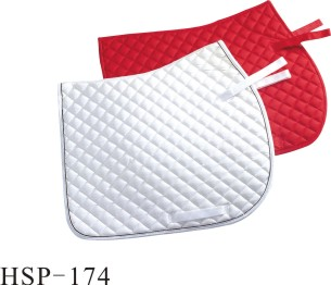 Diamond pattern red fleece light soft racing saddle pad