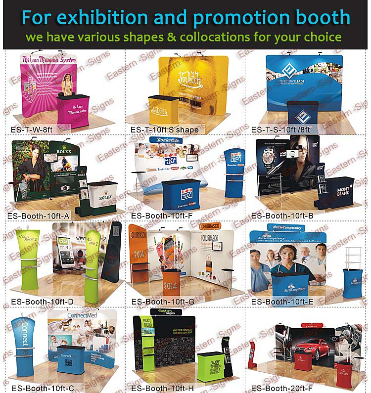 10ft Portable Advertisement Fair Display Stand
