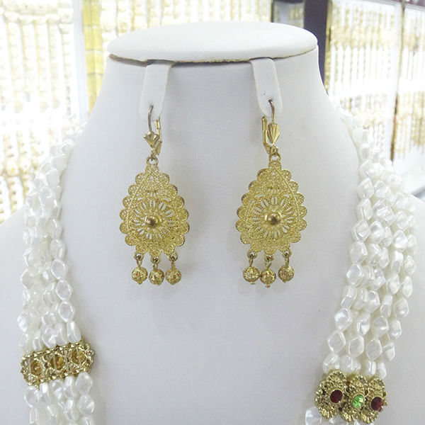 22k gold plate earring african bead jewelry