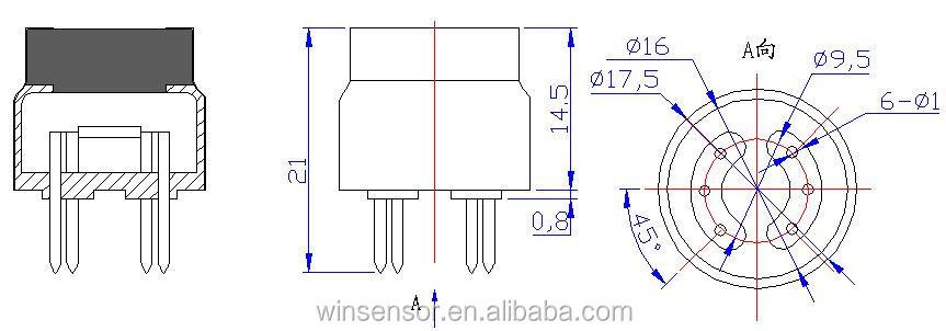 cheap co2 sensor with range 350