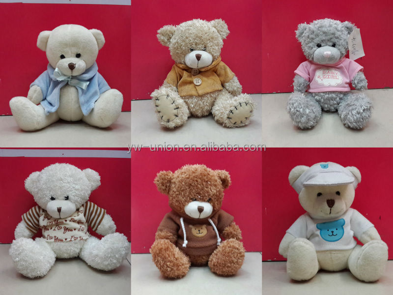 10cm white stuffed teddy bear with ribbons , plush keychains babay bear , soft toy , plush bear teddy soft toy ,