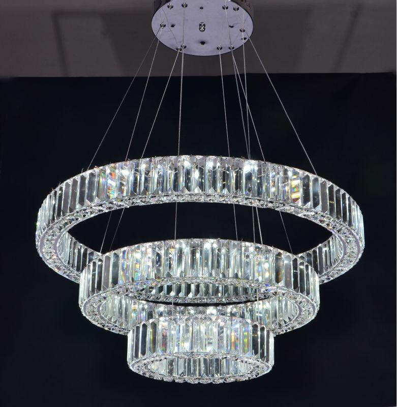 Three Rings modern Luxury Crystal Chandelier Led Lighting