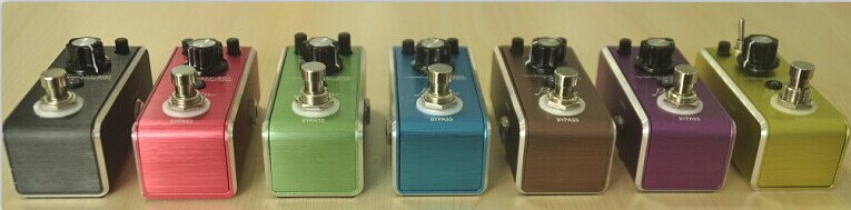 True Bypass Guitar Effect Pedal LEF600 series distoration overdrive with chrous metal fuzz flanger delay function