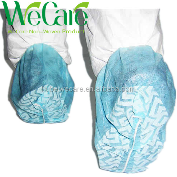 medical disposable safety shoes one-off non woven overshoe waterproof plastic shoe cover