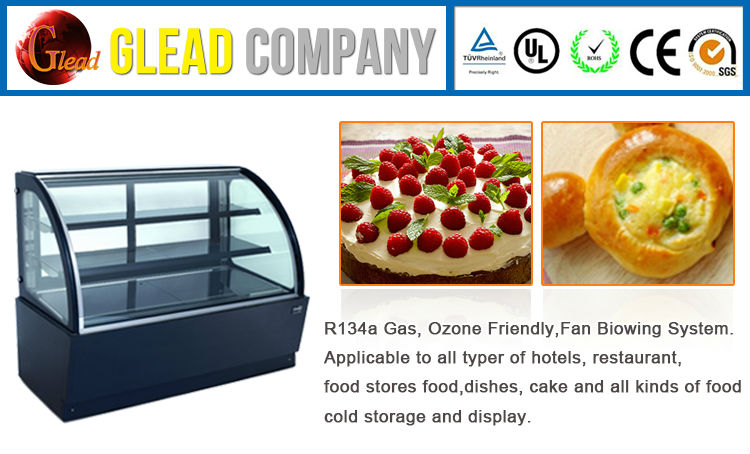 New Design Commercial Sliding Door Cake Refrigerator Showcase